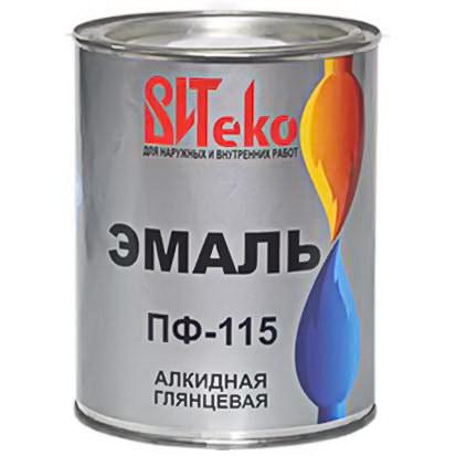 Эмаль ПФ-115 вишня 1,8кг/6шт ВИТЕКО