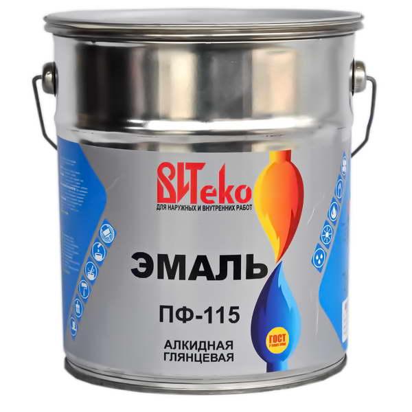 Эмаль ПФ-115 белая 5кг/3шт ВИТЕКО
