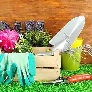 Садовый инвентарь (грабли, лопаты, вёдра и т.д.)